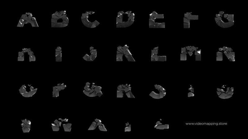Animated typeface pack